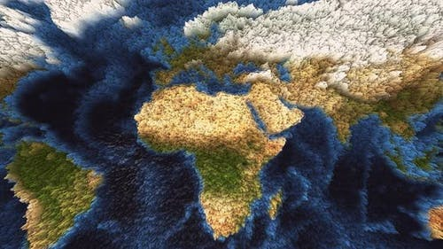 Wavy Animation of the World Map