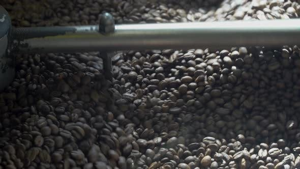 Roasting Coffee Beans at Roasting Equipment