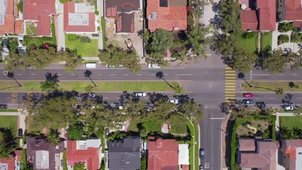 Thumbnail for . Aerial Survey of a Carriageway in a Residential Area of Los Angeles