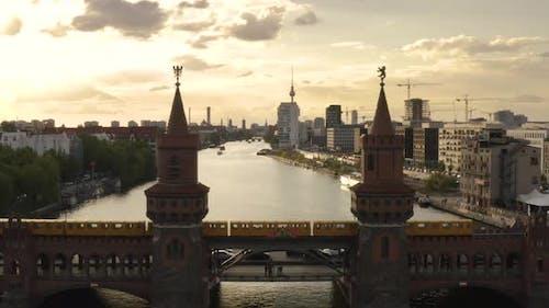 View of Berlin Through Oberbaum Bridge