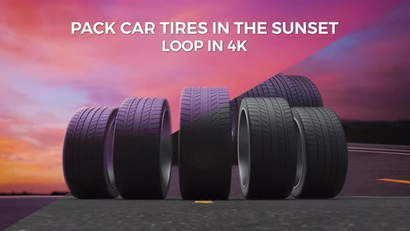 Pack Car Tires In The Sunset