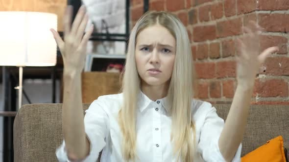 Thumbnail for Yelling, Angry Young Woman  Arguing