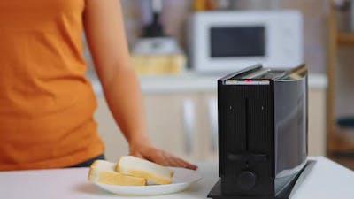 Toaster Roasting Bread
