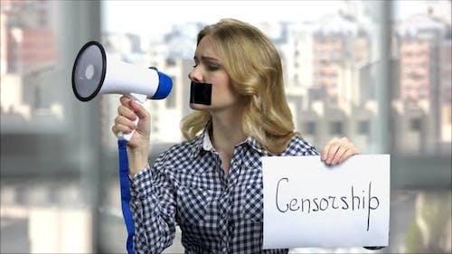 Cencorship Concept Eingeschränkt und Sprechen verboten
