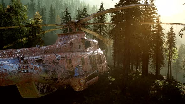Thumbnail for Old Rusted Military Helicopter
