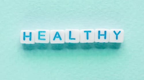 Healthy Word Active Lifestyle Cubes Letters Blue