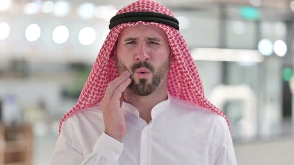 Thumbnail for Arab Businessman Having Toothache, Pain in Teeth