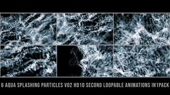 Thumbnail for Aqua Splashing Particles V02