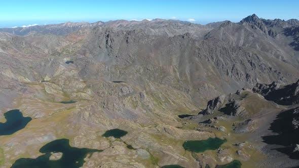 High Altitude Mountain Range Lakes