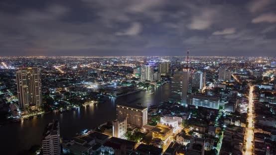 Thumbnail for Bangkok Thailand Thunder Storm at Night Time Lapse