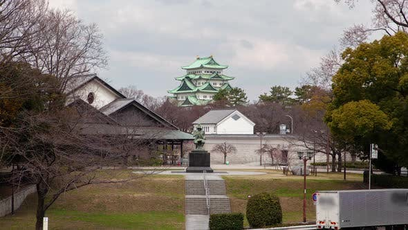 Thumbnail for Kiyomasa Kato Statue at Nagoya Castle Timelapse