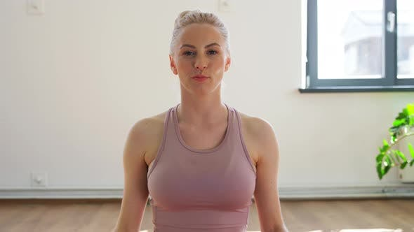 Thumbnail for Woman or Blogger Recording Online Gym Yoga Class