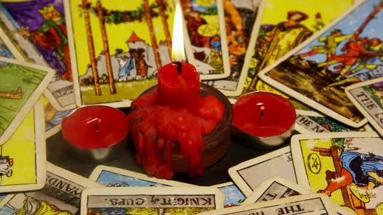 Thumbnail for Tarot Cards And Red Candles 05b