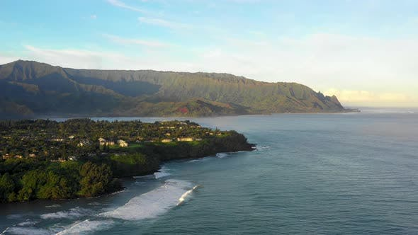 Thumbnail for Coastal Kauai North Shore Na Pali Mountains Aerial
