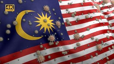 Covid Malaysia Flag / Corona Malaysia Flag - 4K