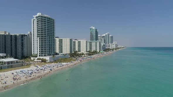 Aerial view of Hollywood, FL