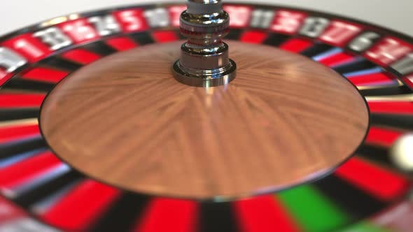 Thumbnail for Casino Roulette Wheel Ball Hits 19 Nineteen Red