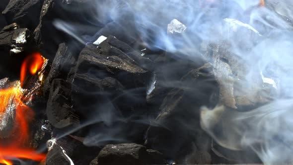 Coal Fire And Smoke