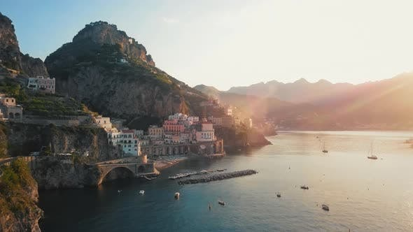 Yaht in Atrani By Dawn Amalfi Coast