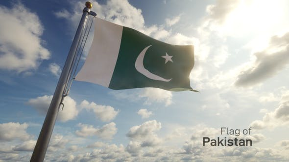 Pakistan Flag on a Flagpole