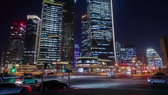 Thumbnail for Beijing Wangjing Subdistrict mit Straße in China Timelapse