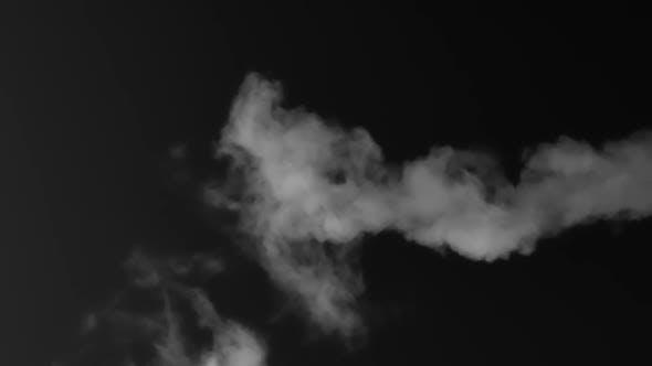 Meandering Stream Of White Smoke