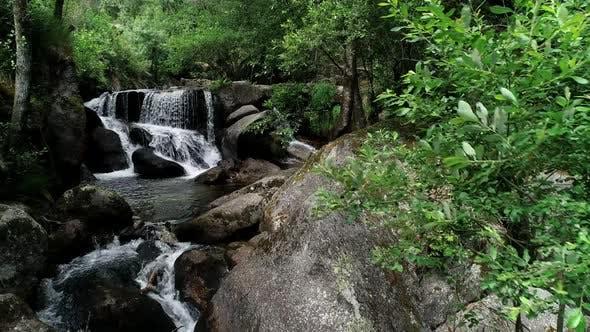 Romantic Waterfall in the Jungle