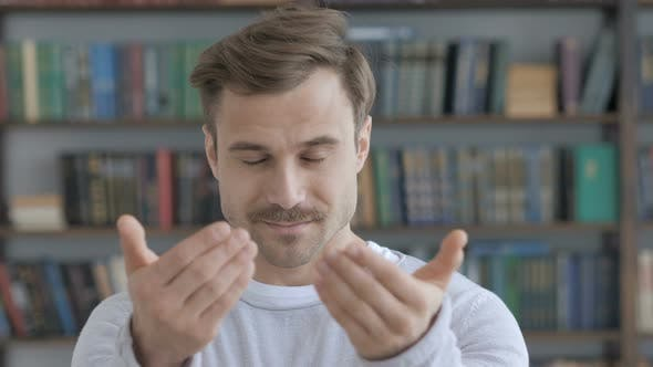 Thumbnail for Inviting Gesture by Beard Adult Man