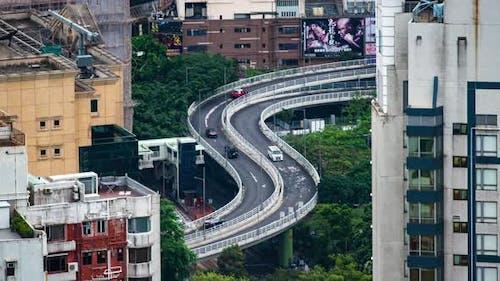 time-lapse of Hong Kong cityscape, skyscraper building at Hong Kong bay