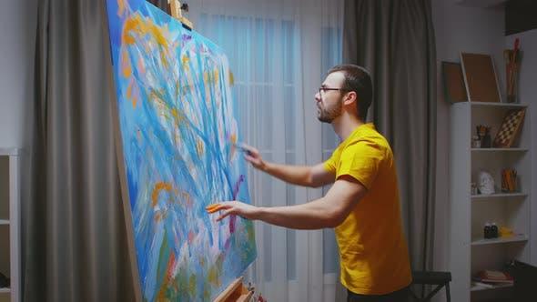 Inovative Painting in Art Studio