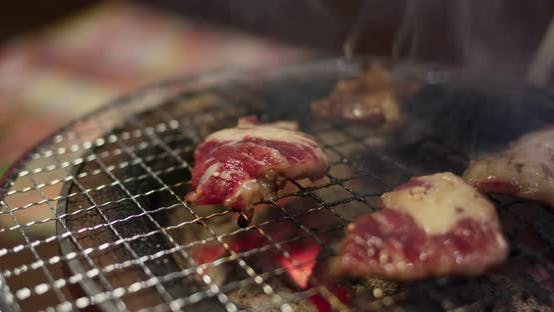 Thumbnail for Japanese Style Meat Barbecue in Restaurant
