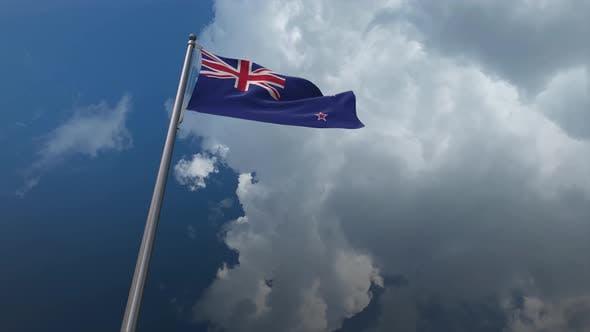 New Zealand Flag Waving 4K