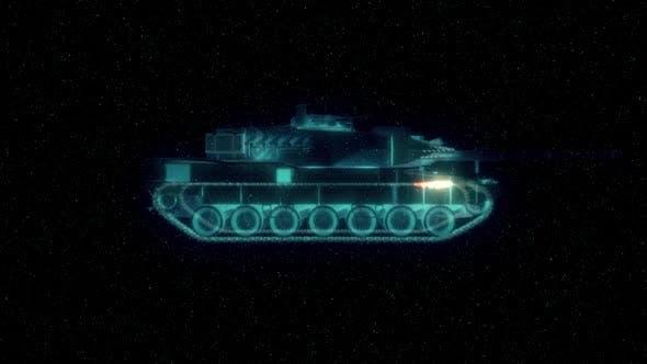 Detailed Tank Hud Hologram Hd