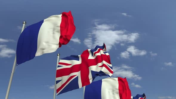 Thumbnail for Waving Flags of Great Britain and France