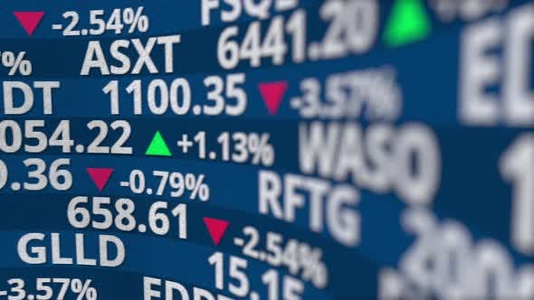 Thumbnail for Fictional Stock Exchange Tickers on the Monitor