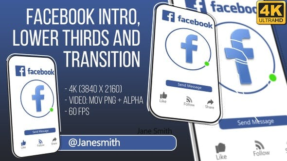 Thumbnail for Facebook Intro and Lowerthird 4K (Video)