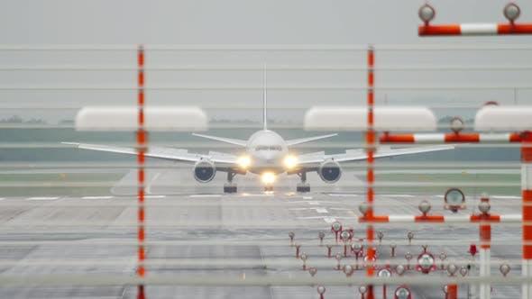 Thumbnail for Widebody Airplane Braking After Landing