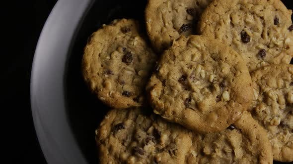 Thumbnail for Cinematic, Rotating Shot of Cookies on a Plate - COOKIES 159