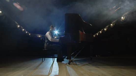 Thumbnail for Pianist Walking To the Piano on the Stage
