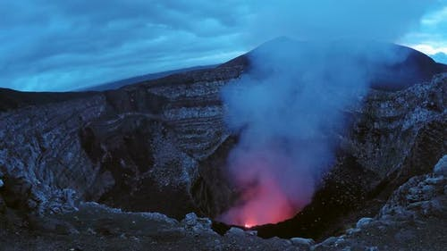 Masaya Volcano Burning Caldera in Nicaragua