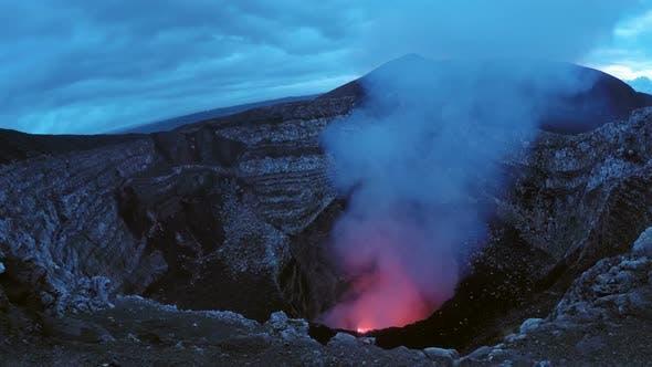 Thumbnail for Masaya Volcano Burning Caldera in Nicaragua