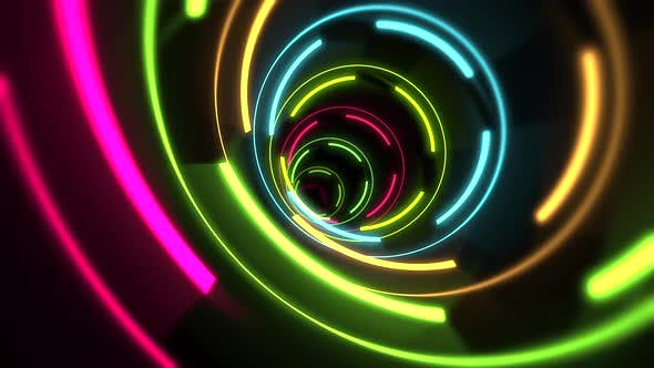 Thumbnail for Motion colorful neon lines abstract background