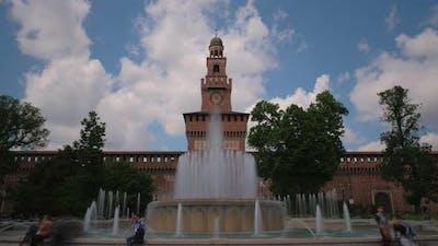 Milan Sforza Castle Time Lapse