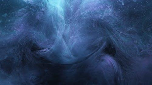 Vapor Flow Blue Ink Burst