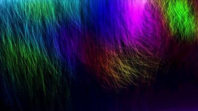 Colorful Particles Line Background