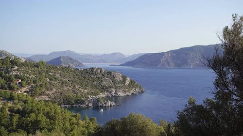 Fascinating Mountain View Of The Aegean Sea