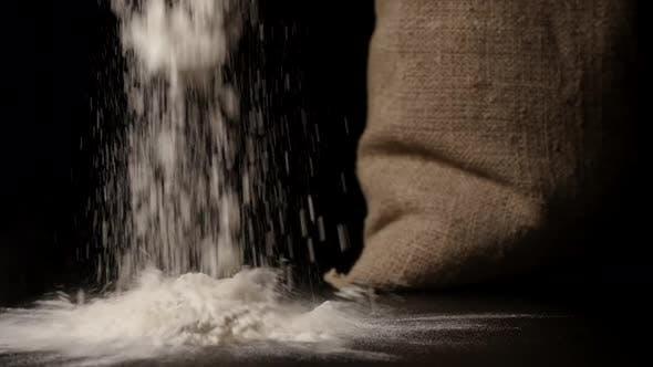 Thumbnail for White Flour Falling Down Near A Sac