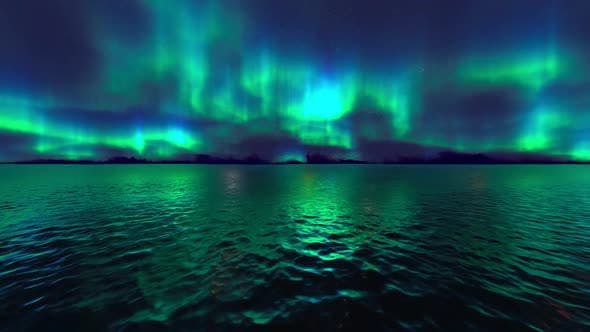 Northern Lights over Sea