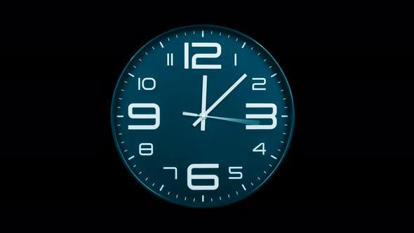 Thumbnail for Modern Light Blue Clock Face Moving Fast Forward