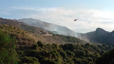 Firefighter Helicopter Extinguish Fire